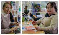 Dziewczęta w pracowni plastycznej tworzą kolejne dzieła...